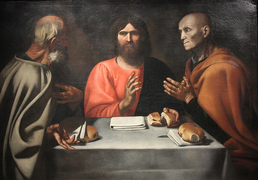 Christ at Emmaus house by Alonso Rodriguez