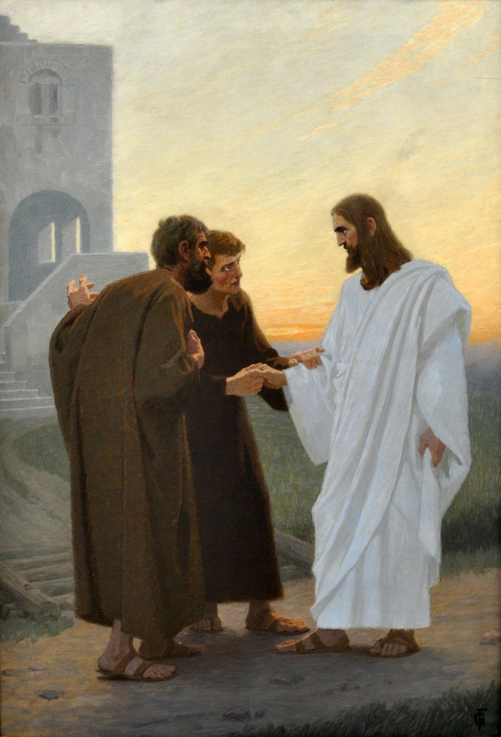 Jesus und der Gang nach Emmaus by Gebhard Fugel