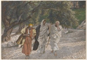 James Tissot painting of Walk to Emmaus