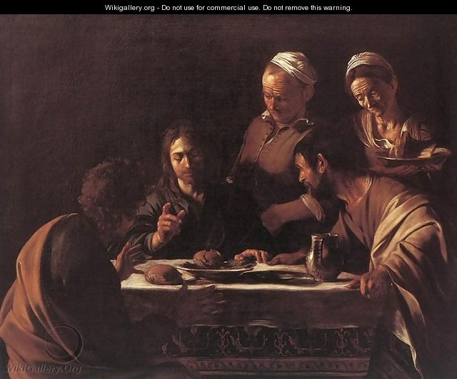 Supper at Emmaus 2 by Caravaggio