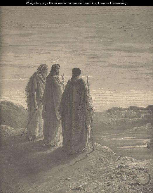 The Journey to Emmaus by Gustave Dore