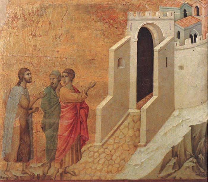 Duccio di Buoninsegna painting Road to Emmaus