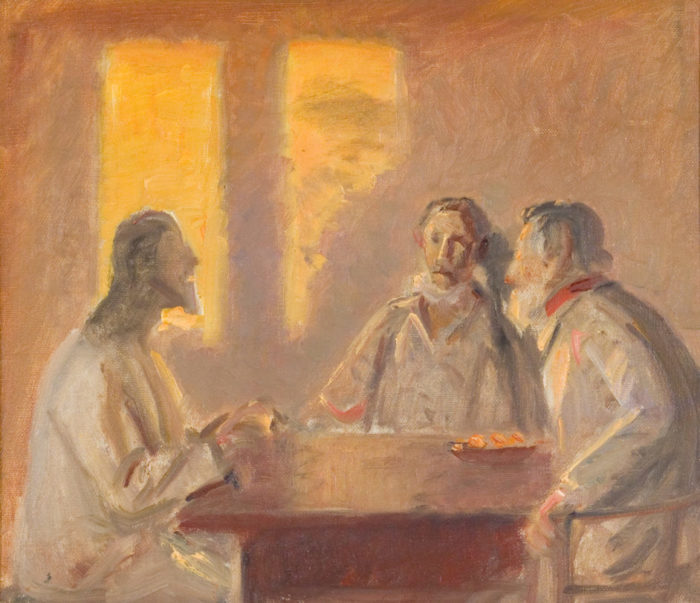 Christ in Emmaus by Michael Ancher