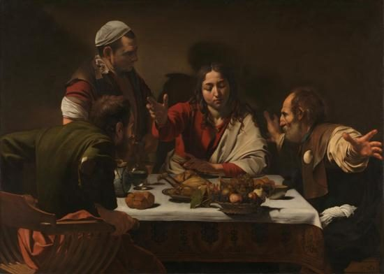 Caravaggio painting The Supper at Emmaus
