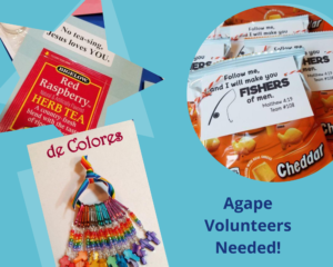 Agape Volunteers needed
