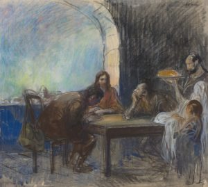 The Supper at Emmaus by jean-Louis Forain