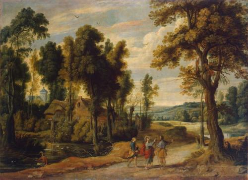 Landscape with Christ and his Disciples on the Road to Emmaus - Jan Wildens