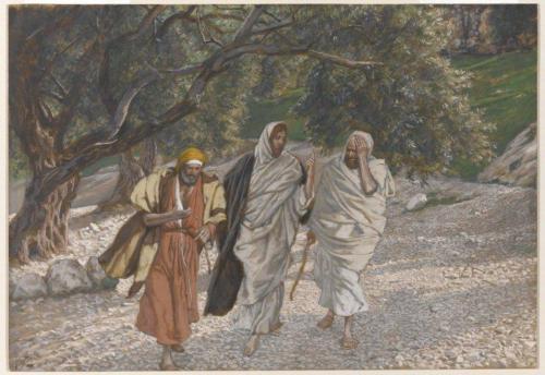 The Pilgrims of Emmaus on the Road (Les pèlerins d'Emmaüs en chemin) - James Tissot