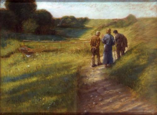 Der Gang nach Emmaus - Fritz von Uhde